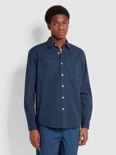 Shore Casual Fit Organic Cotton Shirt In Yale
