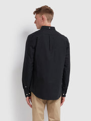 Brewer Slim Fit Oxford Shirt In Black Ink