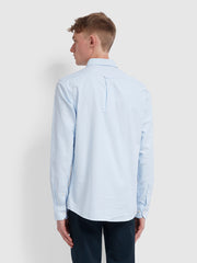 Brewer Slim Fit Oxford Shirt In Sky Blue