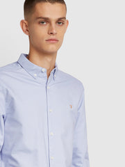 Brewer Slim Fit Oxford Shirt In Washed Lilac