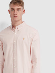 Brewer Slim Fit Oxford Shirt In Pink