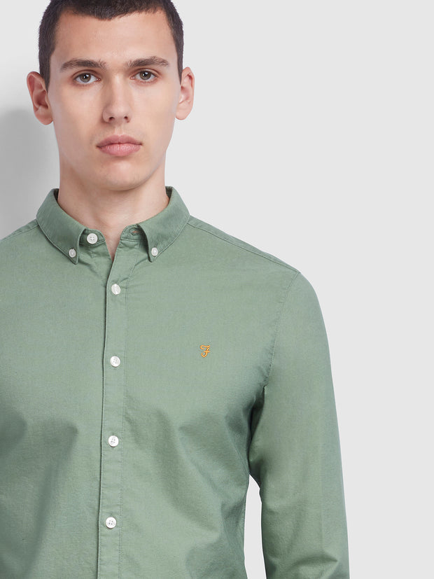Brewer Slim Fit Oxford Shirt In Farah Jade