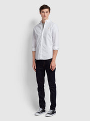 FARLEY SLIM FIT POPLIN SHIRT IN WHITE