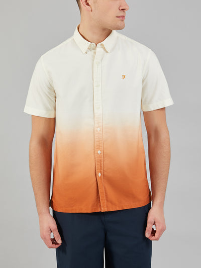 Matthias Short Sleeve Dip Dye Shirt In Goldfish