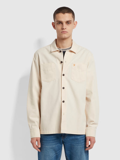 Miller Canvas Shirt In Cream