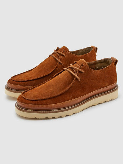 Woodville Wallabee Shoe In Tan