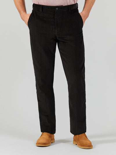 HOWDEN WALE CORD TROUSERS IN BLACK