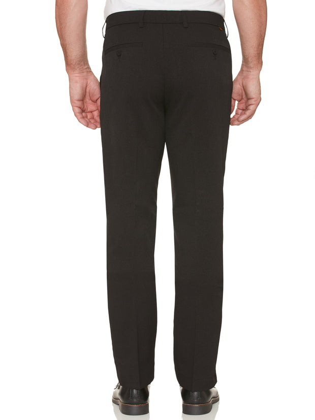 EASTGATE WOOL TOUCH MELANGE TWILL TROUSERS IN BLACK
