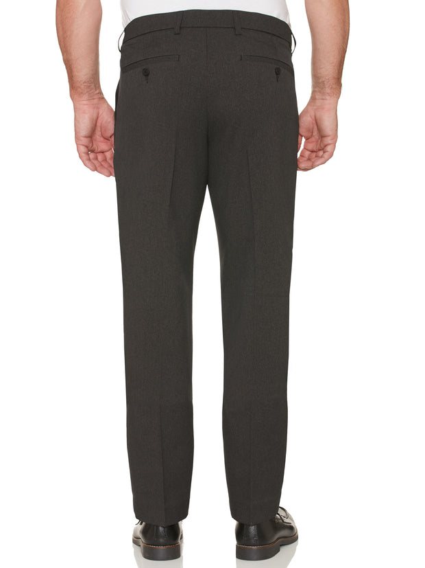 EASTGATE WOOL TOUCH MELANGE TWILL TROUSERS IN CHARCOAL