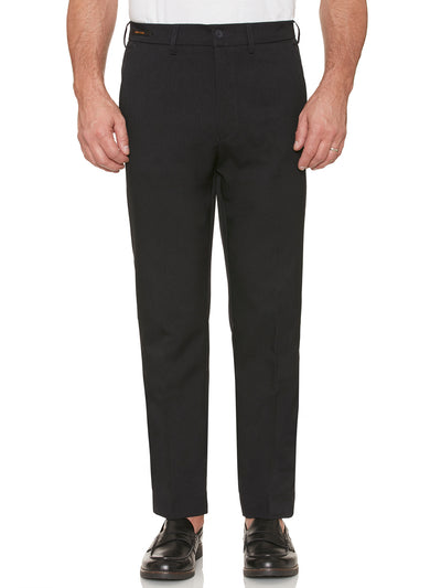 EASTGATE WOOL TOUCH MELANGE TWILL TROUSERS IN NAVY