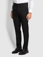 Roachman Flexi Waist Trousers In Black