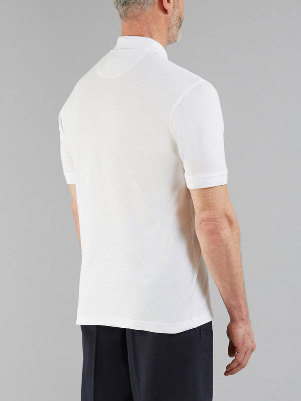 COVE POLO SHIRT IN WHITE