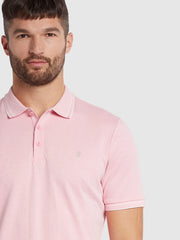 Moores Polo Shirt In Malibu Pink