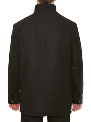 BARBROOK FUNNEL NECK JACKET IN BLACK