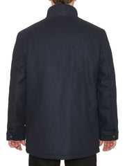 BARBROOK FUNNEL NECK JACKET IN DEEP NAVY
