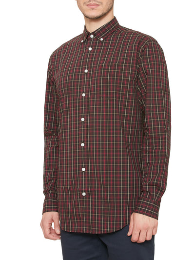 BULLOW CHECK SHIRT IN OXBLOOD