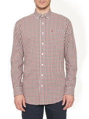 KENN CHECK SHIRT IN CABERNET