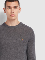 Rosecroft Lambswool Crew Neck Jumper In Farah Grey