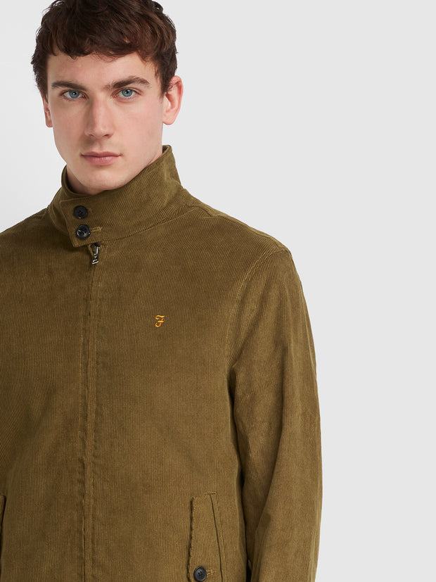 Bowie Corduroy Harrington Jacket In Truffle