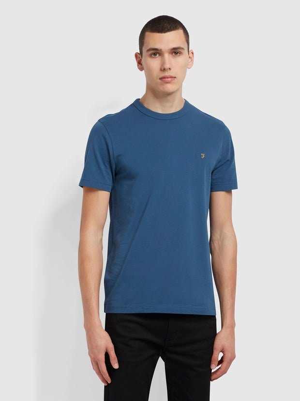 Danny Slim Fit Organic Cotton T-Shirt In Cold Metal