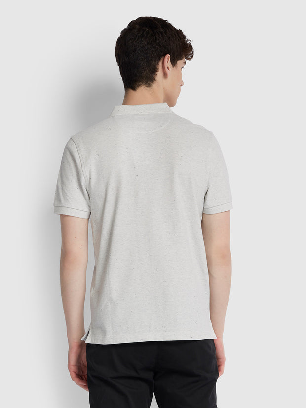 BLANES SLIM FIT POLO SHIRT IN BERLIN GREY MARL