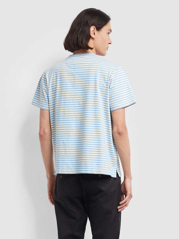 Galveston Striped T-Shirt In Moonstone