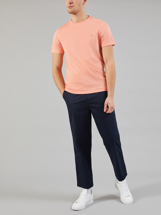 DENNY SLIM FIT MARL T-SHIRT IN PEACH MARL
