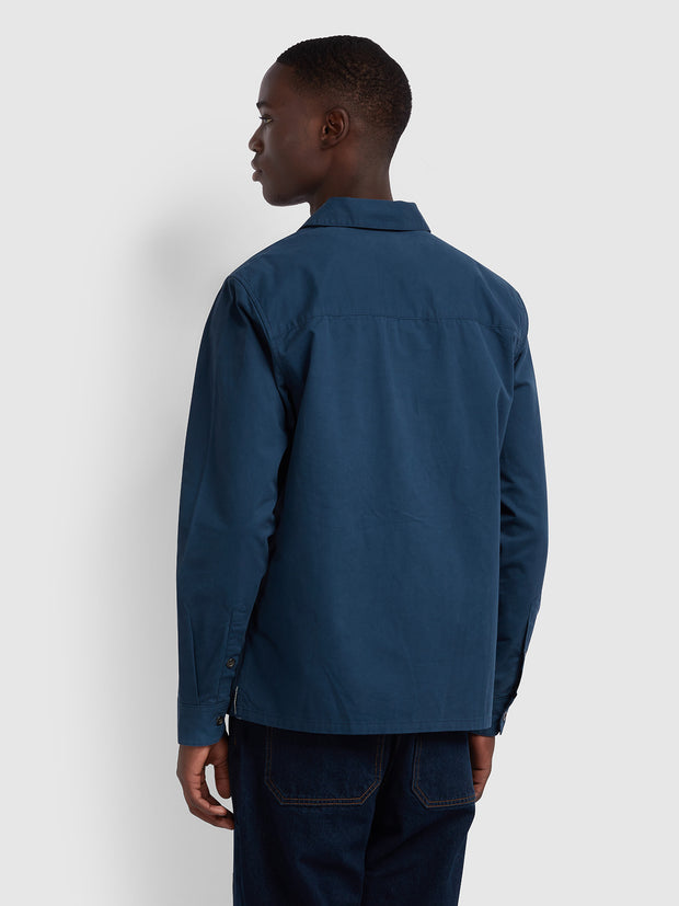 Dallam Relaxed Fit Overshirt In Yale