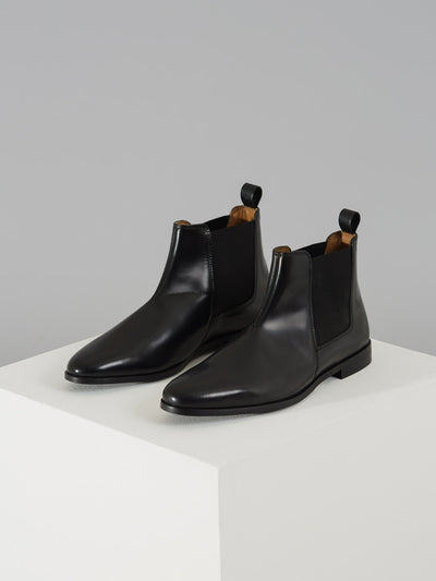 THEODORE LEATHER BOOT IN BLACK