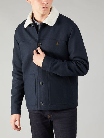 DUNKELD JACKET IN TRUE NAVY