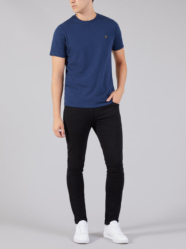 DENNY SLIM FIT MARL T-SHIRT IN YALE MARL