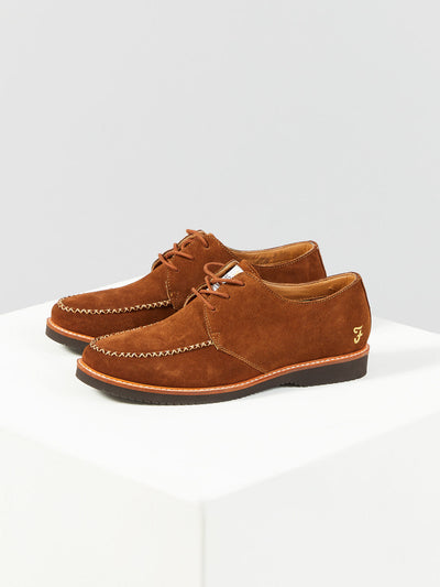 RONNIE SUEDE SHOE IN CHESTNUT