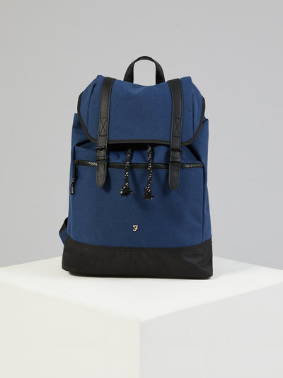 HOPSACK RUCKSACK IN TRUE NAVY