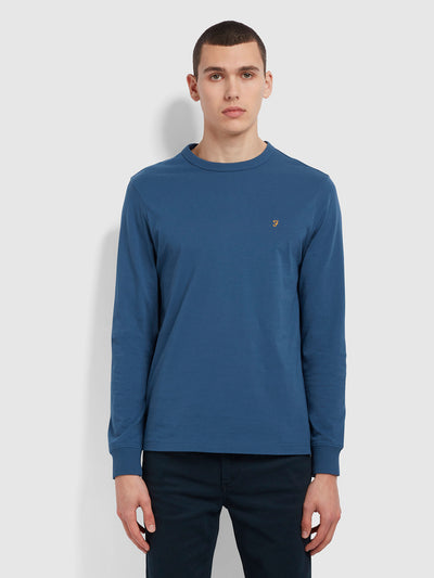 Worthington Slim Fit Long Sleeve Organic Cotton T-Shirt In Cold Metal