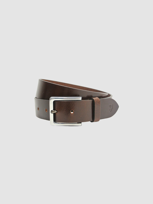 Langer Classic Leather Belt In Chestnut