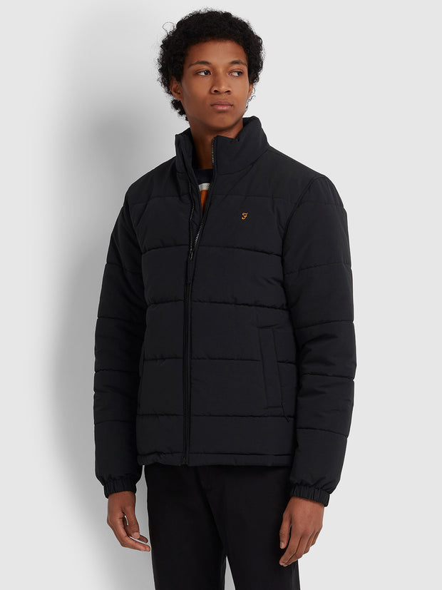 Staithley Puffa Jacket In Deep Black