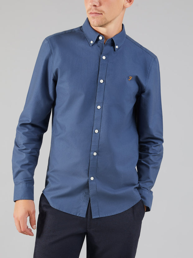 Brewer Slim Fit Oxford Shirt In Bobby Blue