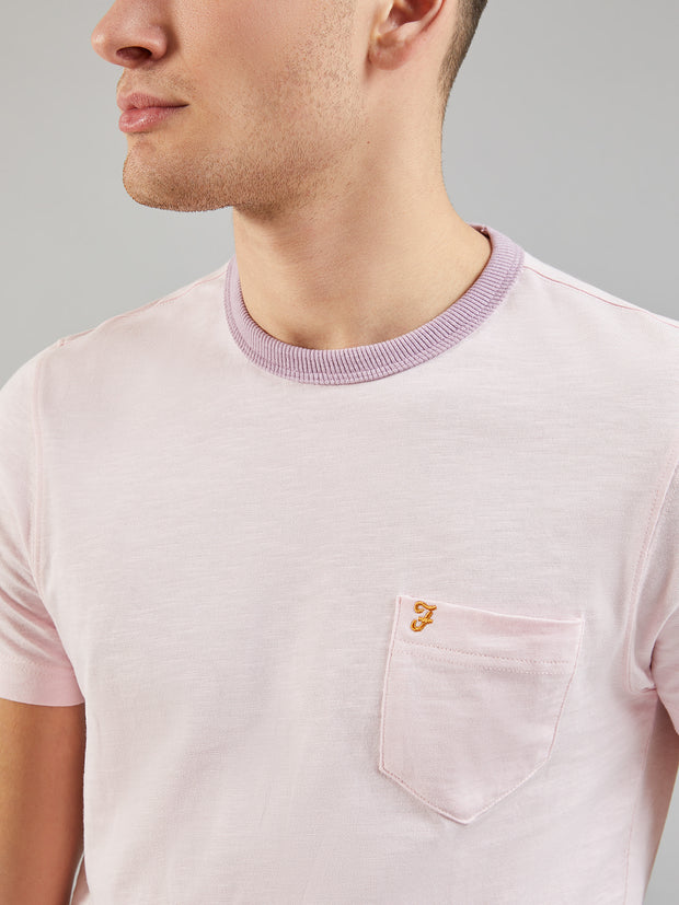 Groove Slim Fit Pocket T-Shirt In Pink Haze