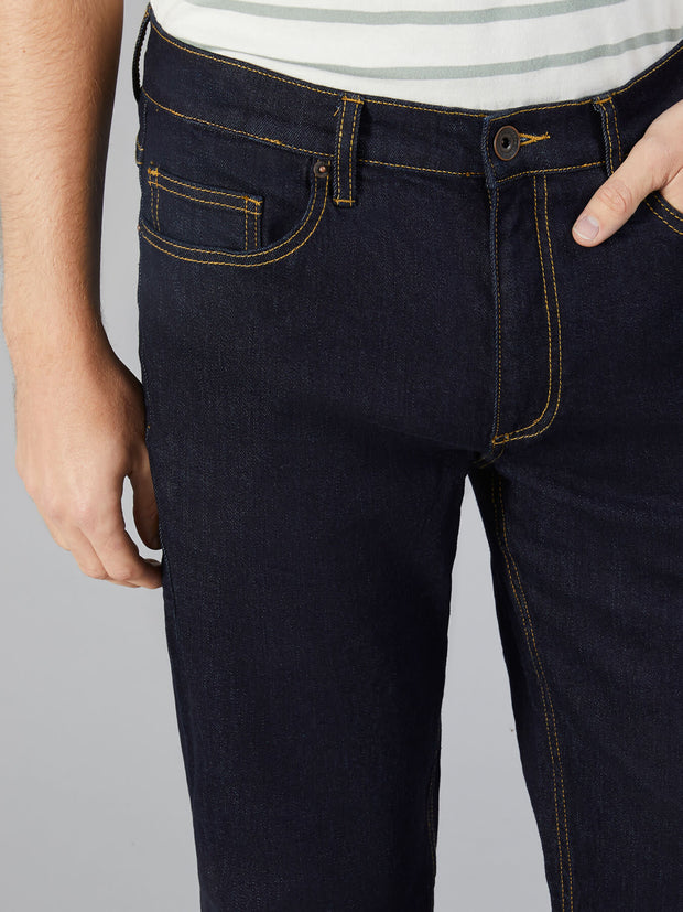 CHEAD REGULAR FIT STRETCH JEANS IN MID DENIM