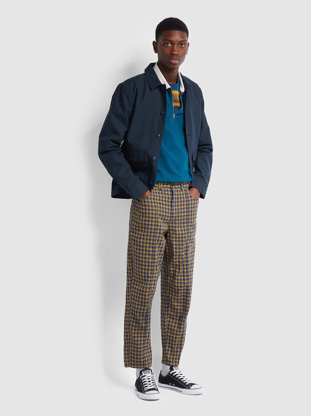 Farah X YMC Madras Check Trousers In Sailor Blue