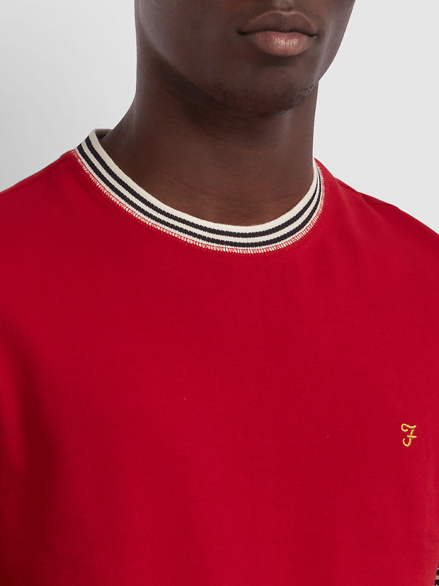 Texas Slim Fit T-Shirt In Red Chilli