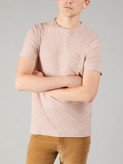 Speirs Fine Striped T-Shirt In Cloudy