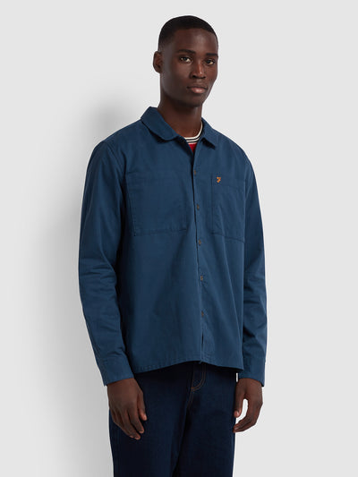 DALLAM RELAXED FIT OVERSHIRT SHIRT IN YALE
