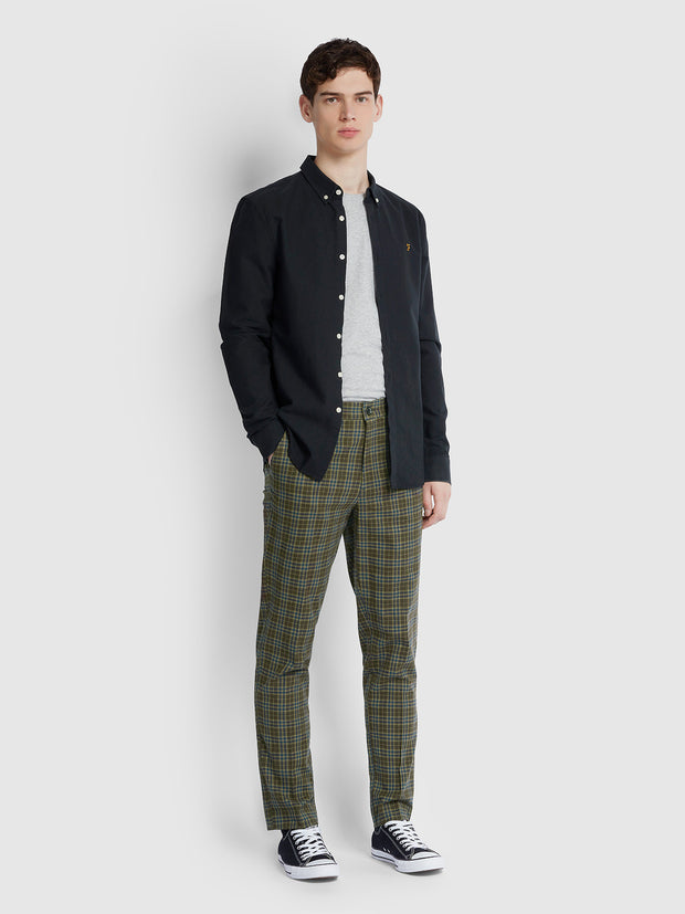 Accrington Regular Fit Check Trousers In Brownie