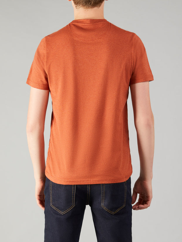 DENNY SLIM FIT MARL T-SHIRT IN RUST MARL
