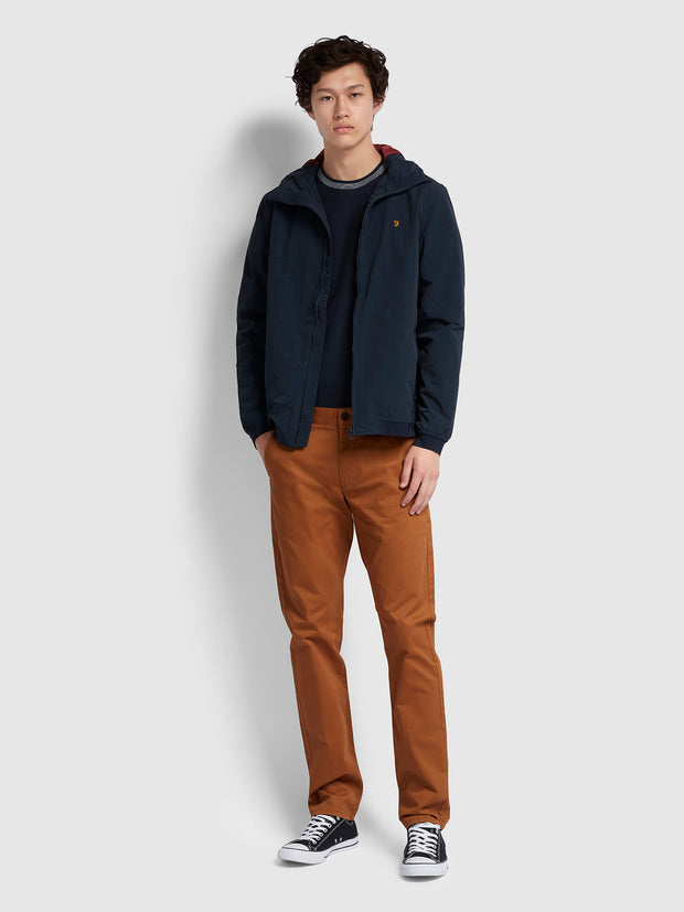 ELM REGULAR FIT TWILL CHINOS IN SPANISH BROWN