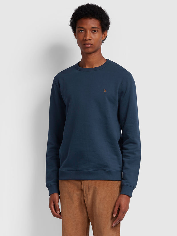 Pickwell Cotton Crew Neck Sweatshirt In Yale