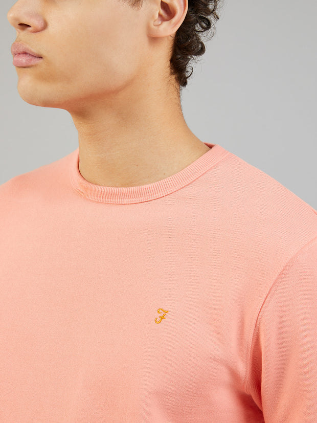 PICKWELL COTTON CREW NECK SWEATSHIRT IN PEACH