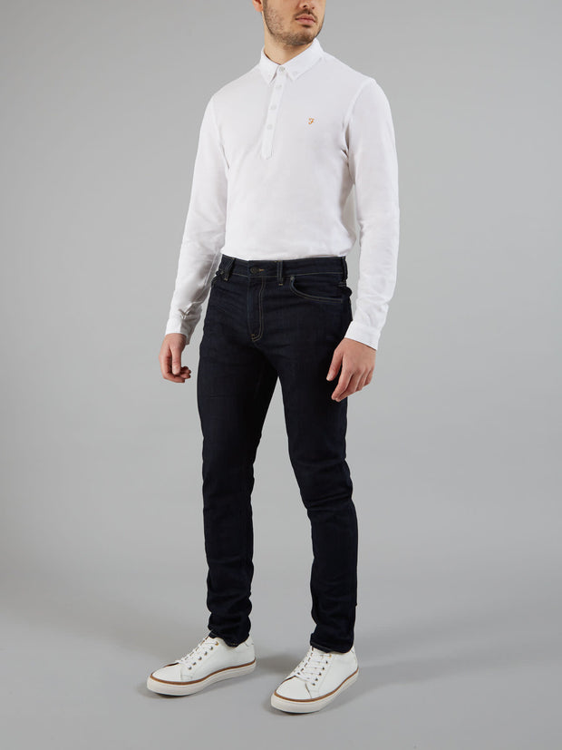 DRAKE SKINNY FIT SOFT STRETCH JEANS IN RINSE DENIM