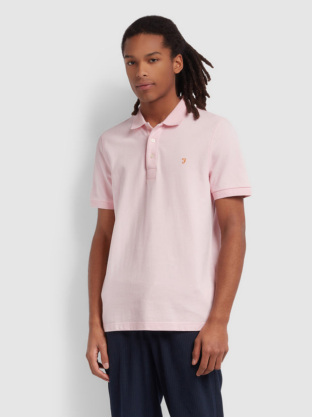 Blanes Slim Fit Polo Shirt In Cool Pink
